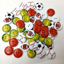 50pcs 20mm Vintage Style Wooden Buttons Mixed colors 2 Hole for Sewing Craft