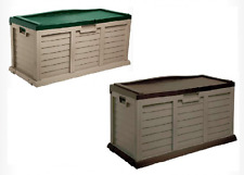 Garden Outdoor Storage Box Unit Sit On Lid Chest Shed Patio Cushions Toys Bench