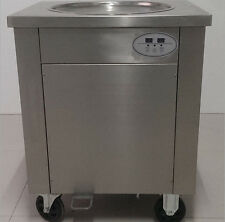 900W 50CM Commercial Fried Ice Cream Machine Ice Crean Roll Making Machine 110V