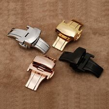 Stainless Steel Watch Bands Deployment Strap Buckle Clasp 12/14/16/18/20/22/24mm