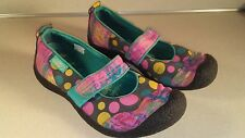 KEEN Harvest Women's Polka Dot Canvas Mary Jane Shoes - Size 9