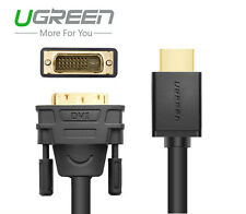 Ugreen HDMI to DVI DVI-D 24+1 Pin Adapter Cable 3D 1080P  for PS3 DVD HDTV XBOX