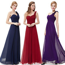 Dress Party Formal Evening Prom Gown Long Chiffon Bridesmaid Ball Size Wedding