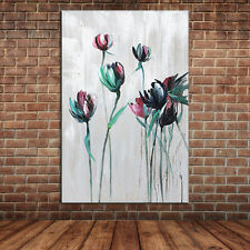 Unframed Modern Abstract Simple Flowers Oil Painting Canvas Art Wall Picture