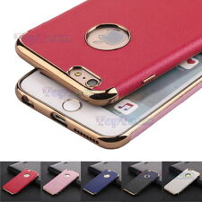 Ultra Thin Flating Soft TPU Back Case Cover +Faux Leather For iPhone 6 6S 7 Plus