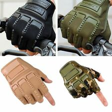 Tactical Half Finger Gloves Outdoor Sports Military Army Sports Hiking Fishin AU