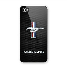 Ford Mustang GT Logo Print Custom On Hard Plastic Case For iPhone 5s 6s 7 7 Plus