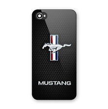Ford Mustang GT Logo Print On Hard Plastic Case For iPhone 5 5s SE 6 6s 7 (Plus)