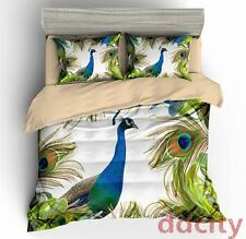 3D Peacock King Bedding Duvet/Quilt Cover Bed Linen Pillowcase Full/Queen/King