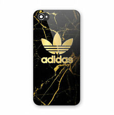 Adidas Stripes Gold Marble Print Hard Plastic Case For iPhone 5s 6 6s 7 8 (Plus)