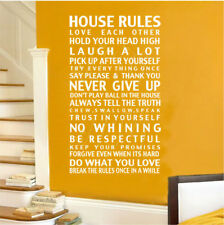 NEW House Rule,17 House Rules, Wall Quote Decal