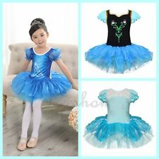 Baby Kids Children Girls Crystal Shoes Tutu Party Dress Ballet Party Costumes