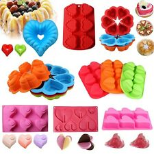 Love Heart Silicone Cake Mold Pan Muffin Chocolate Candy Cookie Baking Tray Mold