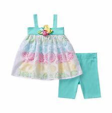 Sweet Heart Rose Baby Girls 2-Piece Tunic & Bike Short Set - Rainbow Burnout