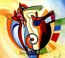 Hand-painted Modern Wall Decor Art Abstract Music Oil Painting Canvas (No Framed