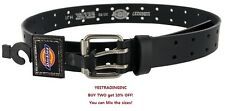 New Dickies Mens Leather Two Hole Double Prong Bridle Belt Sizes 32-44