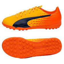 Puma 2017 evoSPEED 17.5 TT Turf Foodball Shoes Soccer Cleats Orange 104026-03