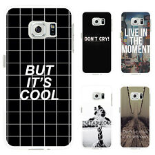 UNIQUE MOTTO PRINT PHONE CASE COVER FOR SAMSUNG GALAXY S6 IPHONE 6S 7 GROOVY