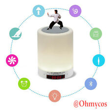 Creative Gift Touch LED Bluetooth Audio nightlight 7 Color Lamp Desk Light