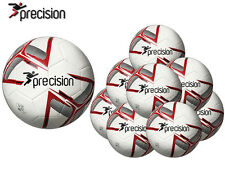 *BRAND NEW* 10 x PRECISION TRAINING - FUSION TRAINING FOOTBALL - WHITE/RED/BLACK