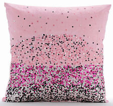 Sequins Ombre Pink Cushion Covers, Silk 40x40 cm Cushions Cover - Pink Starburst