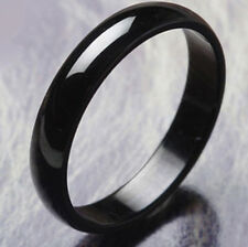 Applied Mens jewelry Black Stainless Steel Band Promise Love Band Ring Size 8-11