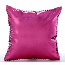 Pink 30x30 cm Faux Leather Cushion Covers - Hot Pink & Gold Spikes