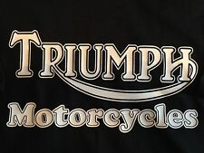 Triumph Motorcycles (Old Logo x 4) - Colour T-shirts - colour print options