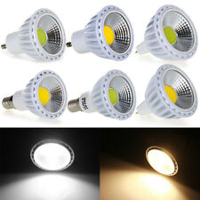 GU10 MR16 E14 COB 6W LED Spotlight Spot Light Lamp Bulb AC100-240V White Warm
