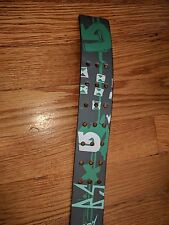 Burton mens 3 hold prong leather belt green new size large 34 36