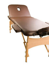 NEW 3 Fold Portable Wooden Beauty Massage Table Chair Bed