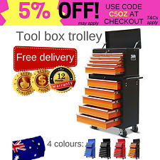 Mechanic tool box storage cabinet chest trolley toolbox 14 drawers - 4 colours