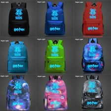 Harry Potter Luminous Hogwarts Backpack Schoolbag Bookbag New Charm Shoulder Bag