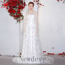 Wedding Dresses Strapless Bridal Gowns Cappa Lace Beaded Sequins Full Length New