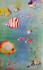 Summer Fun Tropical Fish in Ocean Vinyl Flannel Back Tablecloth-Various Sizes