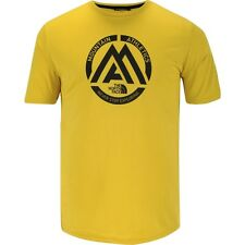 "The North Face ""Mountain Athletics"" Reaxion T-Shirt Acid Yellow Small Large BNWT"