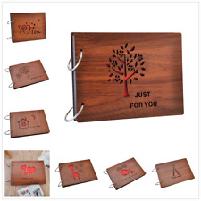 New 8 inch DIY Scrapbook Vintage Photo Albums Wooden Picture Photograph Album