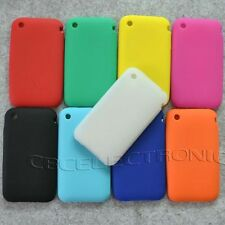 1x New Plain Soft silicone case back Cover for iphone 3g 3gs