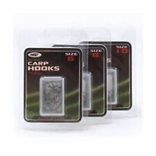 BARBED EYED CARP FISHING HOOKS  SIZES 6 - 8 - 10 NEW IN PACKETS ( SEE OPTIONS )