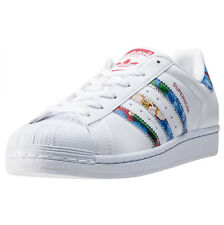 adidas Superstar W Womens Trainers White Multicolour New Shoes
