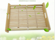 BAMBOO SERVING TRAY Tea Coffee Table Breakfast in Bed Gift Present New Elegant