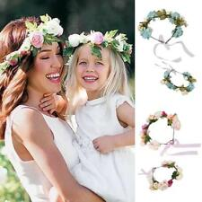 2x Mom Baby Parent Child Flower Headband Wedding Bridal Hairband Photo Prop