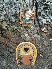 Enchanted Tree gnome or fairy door & window set - fairy and gnome garden kit