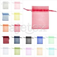 50/100/200pcs Premium Gift Organza Bags Wedding Jewelery Pouches 13x18cm OBS