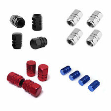 4X  ALUMINIUM VALVE DUST CAPS METAL ALL COLORS FOR CAR MOTORBIKE BIKE VAN BMX