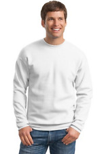 Hanes Basic Crewneck Pullover Sweatshirt Unisex - White CLEARANCE! LOT OF 5