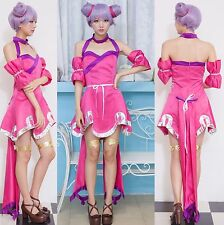 Sexy Halloween Costume Sweet Role Play Dress Fashion Cosplay Hot Pink Lingerie