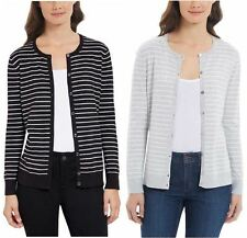 NWT - Jones New York Ladies' Cardigan Fine Knit, Black or Gray, Size: M - XL