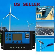 Solar Panel Battery Regulator Charge Controller LCD Display PWM  12-24V 20-30A