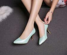 Chic Womens PU Leather Stiletto Pumps Shoes Size Fashion Casual Party Dress 666: